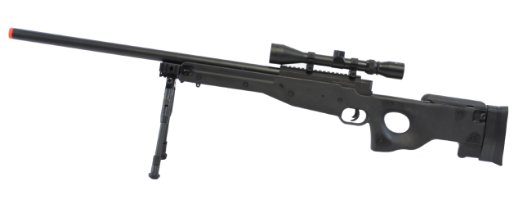 BBTac BT-L96 Bolt Action Spring Airsoft Sniper Rifle w/Scope and Bi-Pod