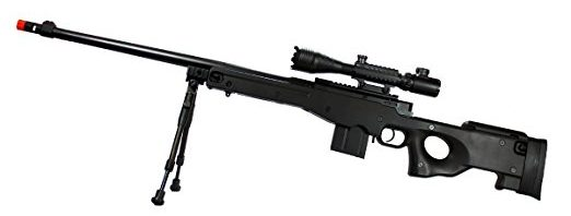 MetalTac Mark-96 Airsoft Sniper Rifle w/4-16×50 Attacker Scope & Bi-Pod