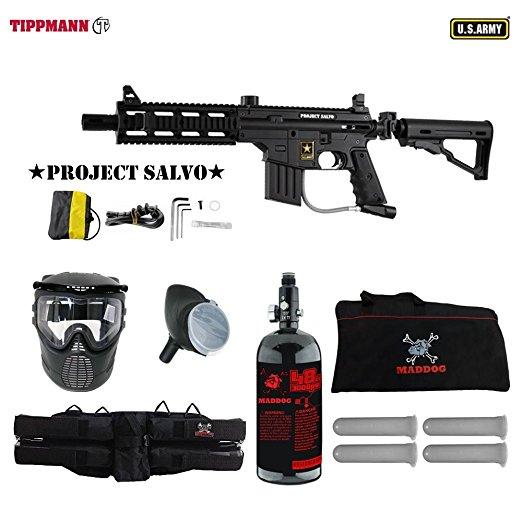 Tippmann U.S. Army Project Salvo Paintball Gun Package