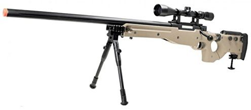 Well MB08D L96 Spring Airsoft Gun Metal Sniper w/3-9×40 Scope & Bipod