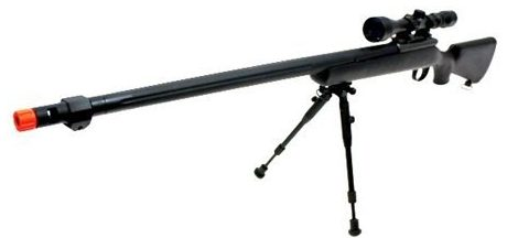 Well VSR-10 Spring Airsoft Sniper Rifle with 3-9x40 Scope & Bipod