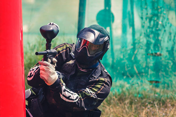 Paintball Player on the Field